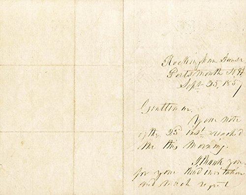 President Franklin Pierce Autograph Letter Signed 09/25/1857