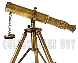 Vintage Table Decorative Brass Telescope with Tripod Maritime Ship Instrument Marine Gifts Item