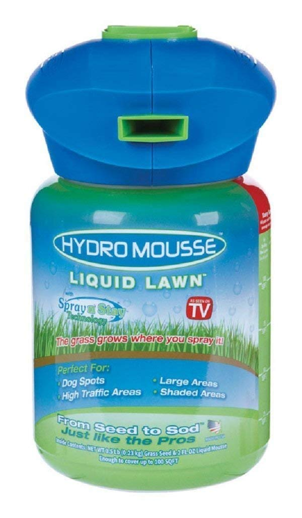 Hydro Mousse Liquid Lawn System - Grow Grass Where You Spray It - Made in USA by Hydro Mousse
