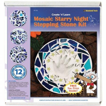 Diamond Tech Create N Learn Mosaic Stepping Stone Kit, Starry Night