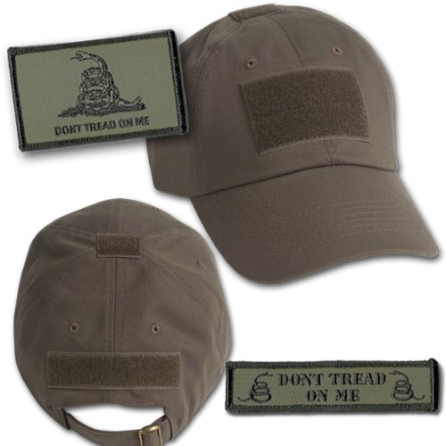 Gadsden Tactical Hat & Patch Bundle  - Olive Drab