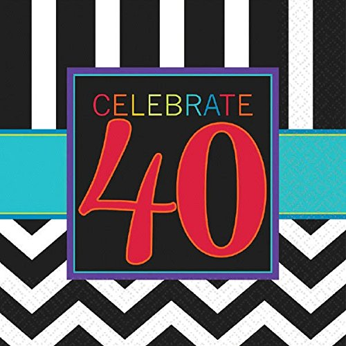 amscan Must-Have Chevron and Stripes 40th Birthday Party