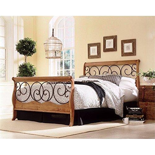 Pemberly Row California King Sleigh Bed in Honey Oak Autumn ()