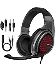Stereo Gaming Headset for Xbox One PS4 PC 7.1 Surround Sound Noise Cancelling Over Ear Headphones with Mic Volume Control Soft Memory Earmuffs for Laptop Mac Nintendo Switch Games