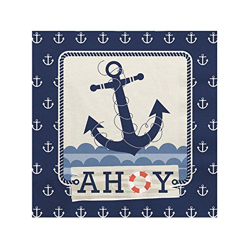 Nautical Themed Appetizers (Ahoy Nautical - Beverage Napkins (16)