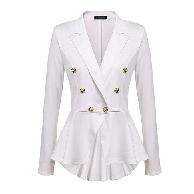 8a49a18e28 Mujer Blazer Elegante Formal Negocios Oficina Delgado Casual Americana  Abrigos Modernas Fashion Estilo De Las Mujeres Estilo Cola De Golondrina  Camisa ...