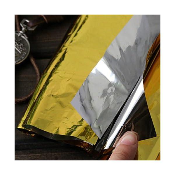 Somine Mantas de Emergencia(Paquete de 10) Tamaño Grande:210 X160cm, diseñado con hasta un 90% de retención de Calor 4