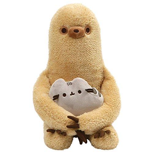 (GUND Pusheen with Sloth Plush Stuffed Animal, Set of 2, Multicolor, 13