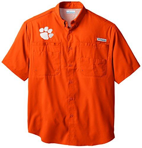 NCAA Clemson Tigers Collegiate Tamiami Shirt, Spark Orange, Large