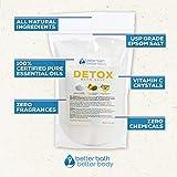 7-Pack Detox Bath Salt Sampler Set - Free Priority Shipping - Full Set Of 7 One Pound Bath Salts: Detox, Eucalyptus, Vapor, Stress Relief, Deep Relaxation, Tea Tree Foot Soak, & Muscle & Pain Relief