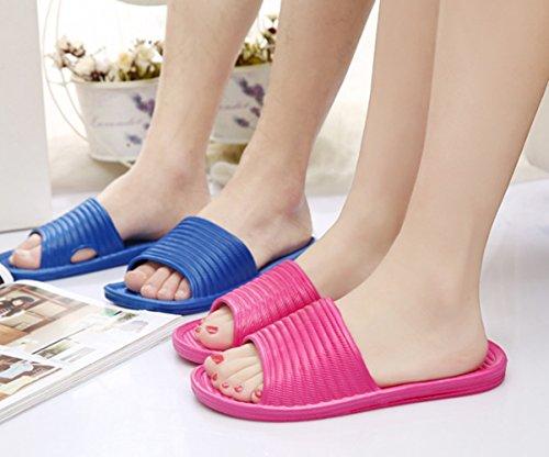 GR Mens Zapatillas de verano, Zapatillas de casa Zapatillas de baño Royal Blue