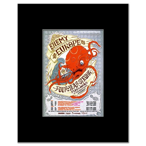 Music Ad World Four Year Strong - Enemy Europe Tour Mini Poster - 13.5x10cm
