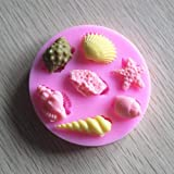 1 lot Chocolate mold 10 pcs DIY Conch shell shape decoration mold silicone mold/clay mould