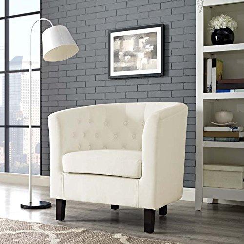 Modway EEI-2613-IVO Prospect Velvet Ivory, Armchair, Ivory Velvet Fabric