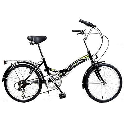 """Stowabike 20"""" Folding City V2 Compact Foldable Bike – 6 Speed Shimano Gears"""