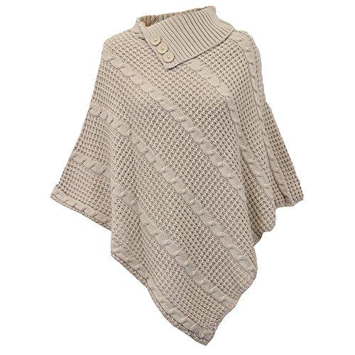 Pullover Pullover A Maglione Mantella Mantella Mantella Donna Scialle Inverno Maglia maglione Da UN2 Donna Pietra Poncho nI4Uqwxa58
