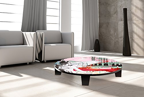TAF DECOR TAF-ATZAN-010A  ''Leap of Faith'' Art Coffee Table, 35'' x 35'' x 7.5'' by TAF DECOR