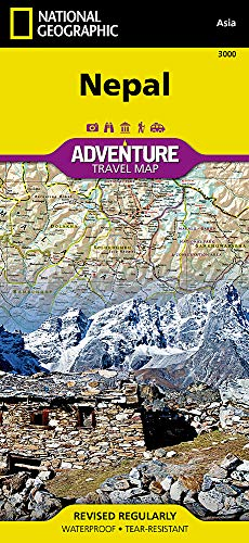 Nepal (National Geographic Adventure Map) (Travel To Nepal From India By Road)