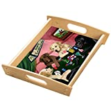 Home of Labradors 4 Dogs Playing Poker Wood Serving Tray