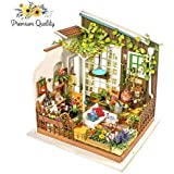Hands Craft DG108 DIY 3D Wooden Puzzle Miniature House: Miller's Garden | Tiny Dollhouse Kit with LED Lights Craft | Tiny Dollhouse Kit LED Lights