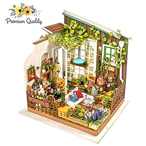 Amazon Com Hands Craft Wooden Dollhouse 3d Puzzle Kit For Adults