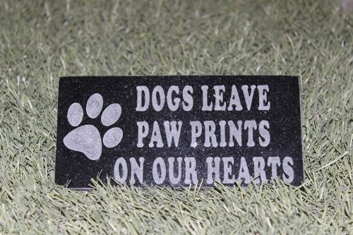 Sandblast Engraved Granite Pet Memorial Headstone Grave M...