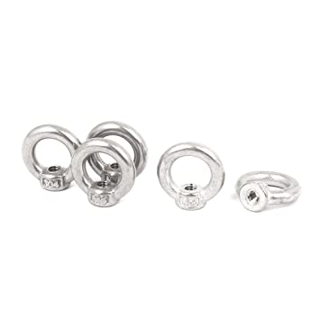 M4 Thread Dia 304 Stainless Steel Ring Shape Lifting Eye Bolt