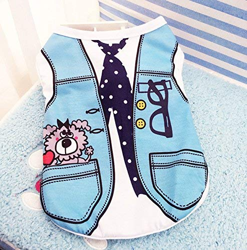 Cat Furniture for Kittens Pet Clothes Strap Vest Thin Small Puppy Dog Clothes,M,Vest