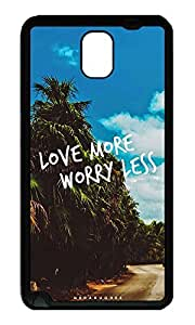 Note 3 Case, Galaxy Note 3 Case, [Perfect Fit] Soft TPU Crystal Clear [Scratch Resistant] Love More Worry Less Ideas Back Case Cover for Samsung Galaxy Note 3 N9000 Cases