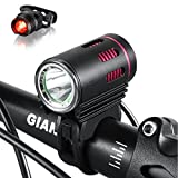 FUNSPORT Bright 1200 Lumens Mountain Bike light with CREE L2 LED -Bike LED Light rechargeable 8.4V 6400mA Silicon Waterproof Battey with Pouch Bag- Free Bike Taillight&Magic Scarf Included For Sale