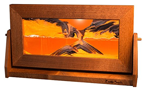 Exotic Sands - Americas Most Popular Gift! Medium Alder Frame (Sunset Orange) FASTSHIPPIG - American Made Quality - Sandscapes - Hourglass Sand Timer Men's Gift - Frames Popular 2015 Glasses