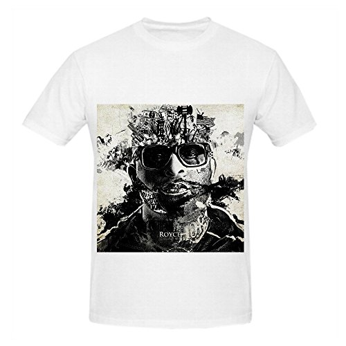 Royce Da 59 Layers Mens Crew Neck Cute Shirts White