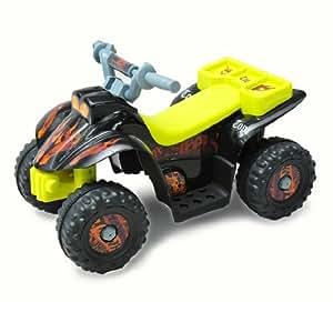 HOMCOM Quad Bateria 6V Moto Electrica Niños 2 años Velocidad 2'5 Km/h Carga Máxima 20 Kg Cargador Incluido