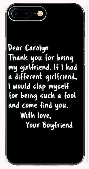 Amazoncom Dear Carolyn My Girlfriend From Boyfriend Funny Saying