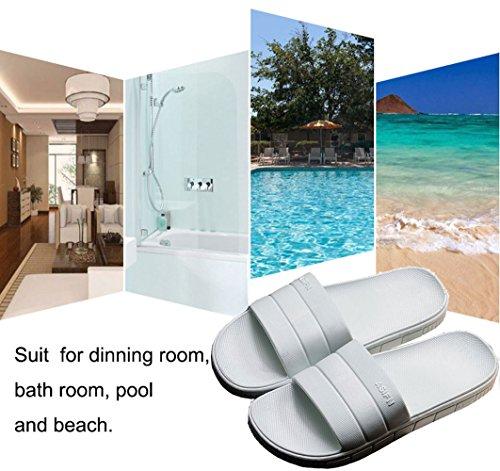 Sole Shoes Sandals on Blue Slide Slippers Shower Pool Non Light Slip Bathroom Men's Thick House Finleoo Slip Women OqATY