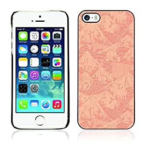Colorful Printed Hard Protective Back Case Cover Shell Skin for Apple iPhone 5 / 5S ( Mountains Pattern )