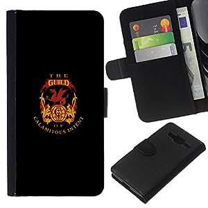 JackGot ( The Guild Of Calamitous Intent ) Samsung Galaxy Core Prime la tarjeta de Crédito Slots PU Funda de cuero Monedero caso cubierta de piel