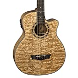Dean EQA Exotica Quilt Ash Acoustic-Electric Guitar, Gloss Natural