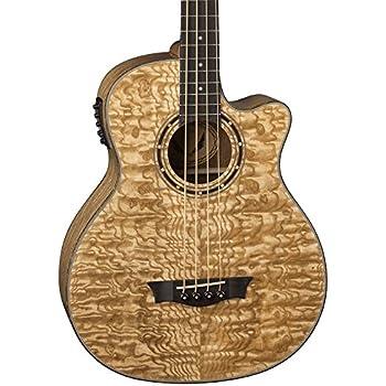 dean eqa exotica quilt ash acoustic electric guitar gloss natural musical instruments. Black Bedroom Furniture Sets. Home Design Ideas