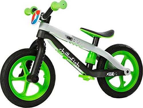 Find Cheap Chillafish BMXie-RS: BMX Balance Bike with Airless RubberSkin Tires, Lime (Man on the Moo...