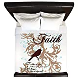 King Duvet Cover Faith Prayer Dove Christian Cross