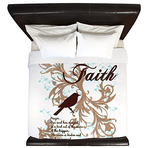 King Duvet Cover Faith Prayer Dove Christian Cross by Royal Lion