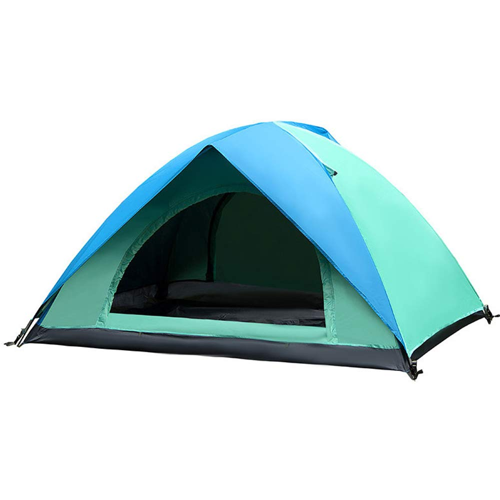 JHDUID Tenda da Campeggio Grande Pop-up, Tenda da Campeggio Automatica Tenda da Sole per Campeggio, Esterno, Giardino, Pesca, Picnic,blu+verde