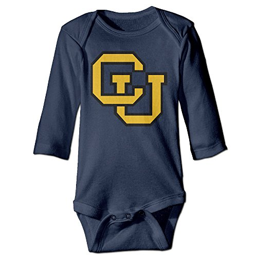 JJVAT University Of Colorado Buffaloes Long-Sleeve Play Suit For 6-24 Months Toddler Size 12 Months (Costume Holiday House Coupon)