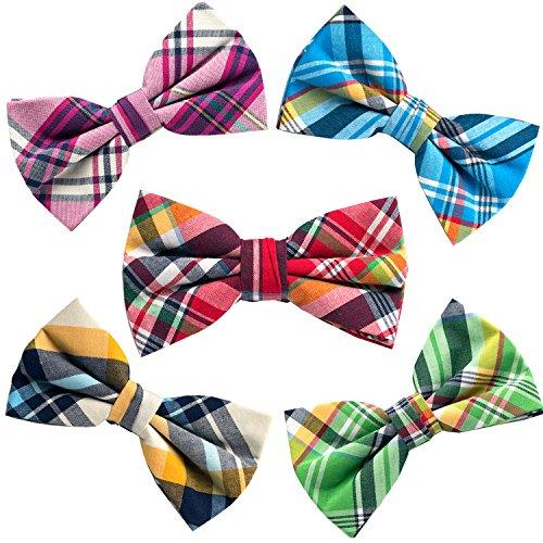 5 PC Mens Assorted Pattern Pre-Tied Adjustable Neck Tie -