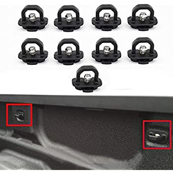 Set of 6 Truck Bed Side Wall Anchors Tie Down Anchors Replacement for GMC Sierra//Chevy Silverado 2007-2018 丨2015-2018 Chevy Colorado//GMC Canyon