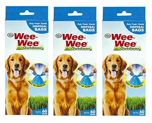 ( Four Paws 3 Pack of Wee-Wee Disposable Waste Bags, 60 Bags Per Pack)