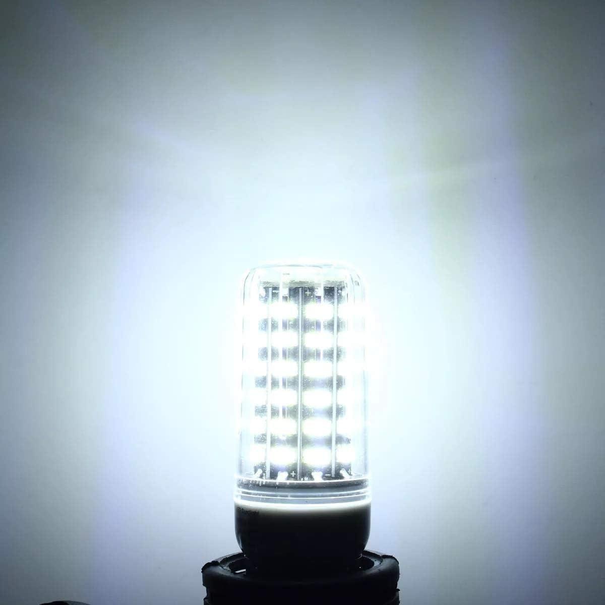 Elegdy E27 7W 64 SMD 5733 1000LM LED White Cover Corn Bulbs AC 110V