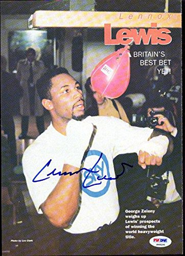 Lennox Lewis Authentic Autographed Signed Magazine Page Photo S49296 PSA/DNA Certified Autographed Boxing Magazines