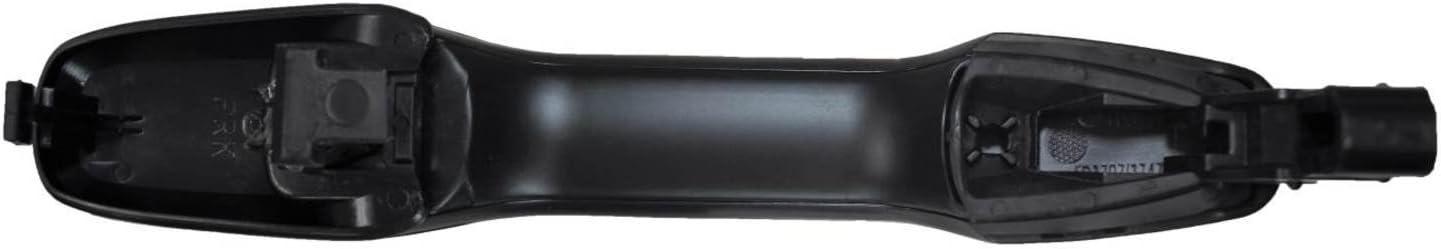 Outside Exterior Outer Door Handle Passenger Side Rear PT Auto Warehouse FO-3705A-RRK Textured Black
